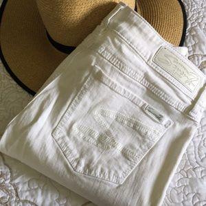 LNWOT Seven 7 Skinny White Denim Capris Size 12